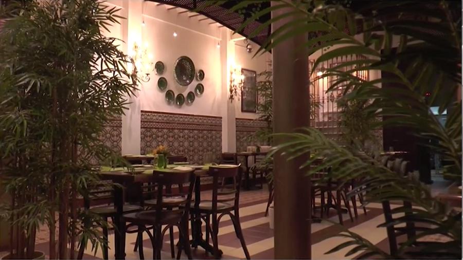 Interior del Restaurante La Antigua, ganador del 2º premio