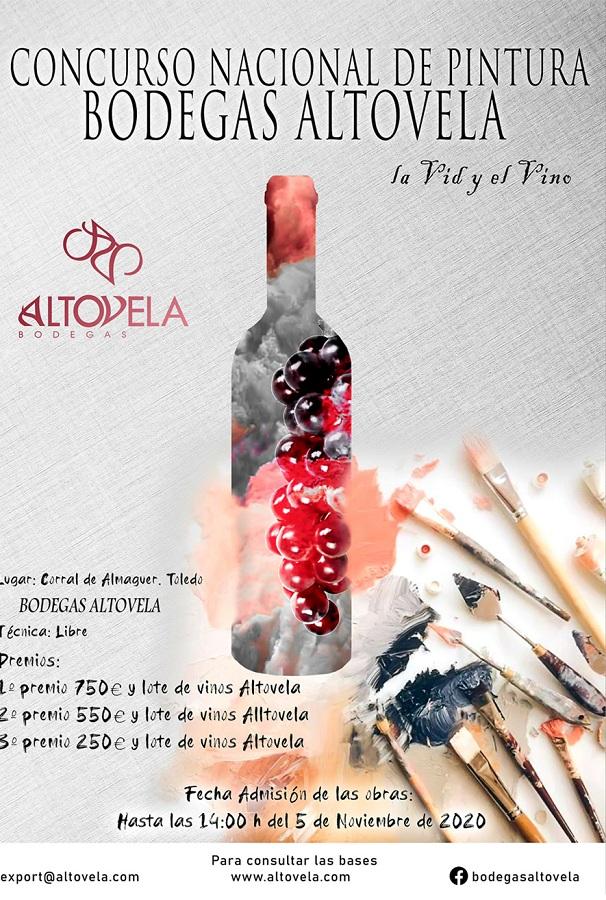 Cartel I Concurso Nacional de Pintura por Bodegas Altovela