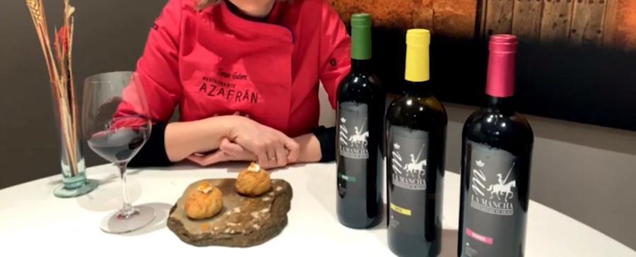 Croquetas de bacalao y vino de La Mancha, por Teresa Gutiérrez